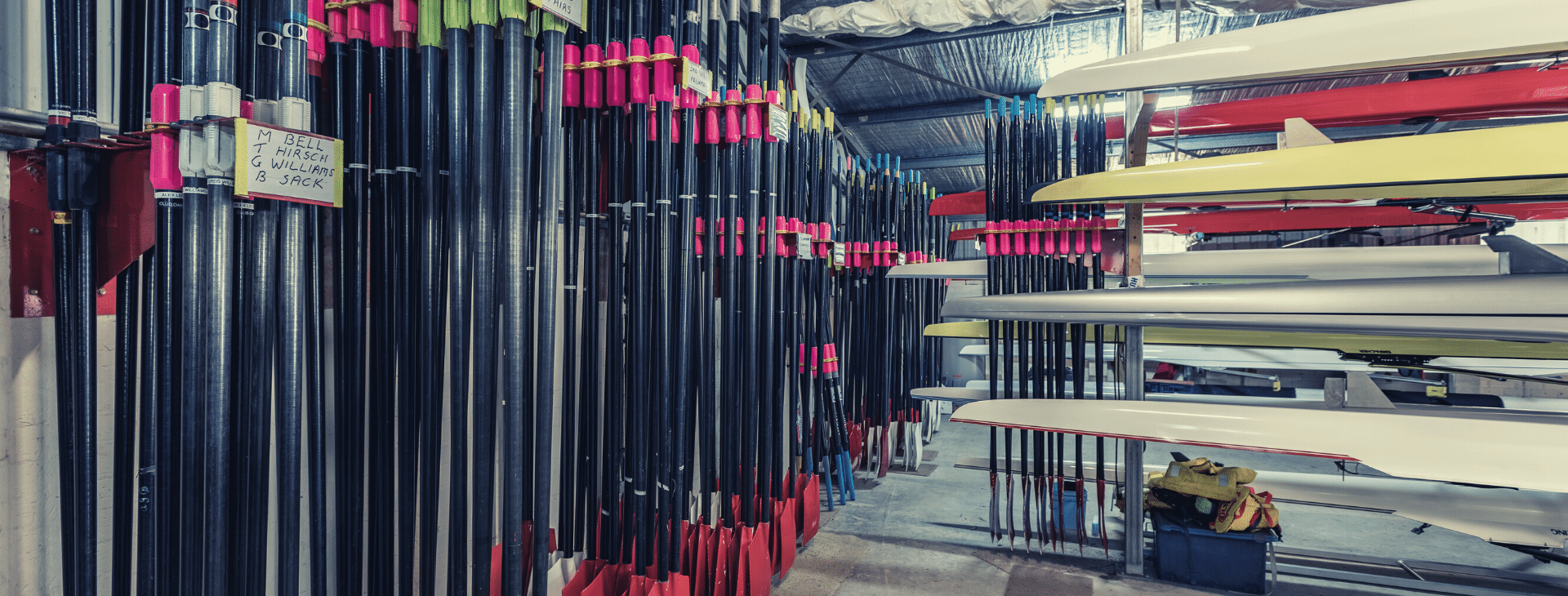 Oars stored and happy