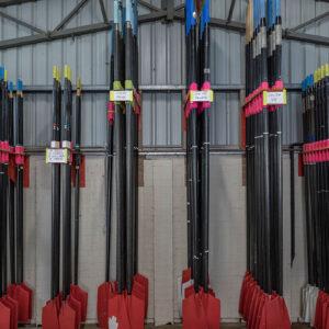 Sweep Oar brackets at the ready