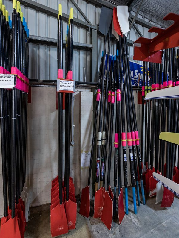 The old and new way to store oars